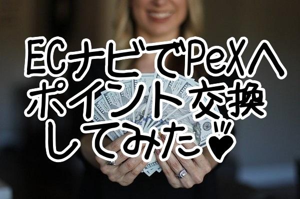ECナビでPeXへポイント交換