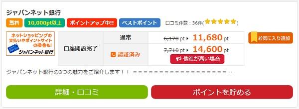 ジャパンネット銀行検索結果