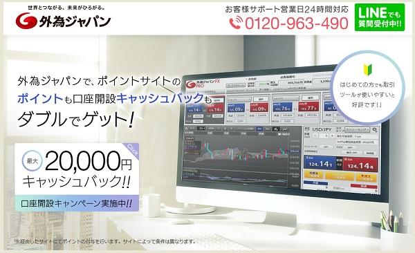 外為ジャパンFXTOPページ