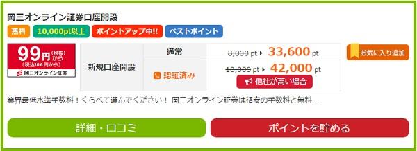 岡三オンライン証券口座開設条件