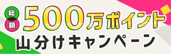 500万ポイント山分けキャンペーン