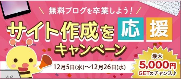 サイト作成応援キャンペーン