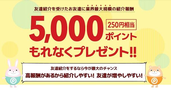 もれなく5,000ポイントプレゼント