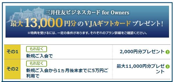 10000円分のVJAギフト