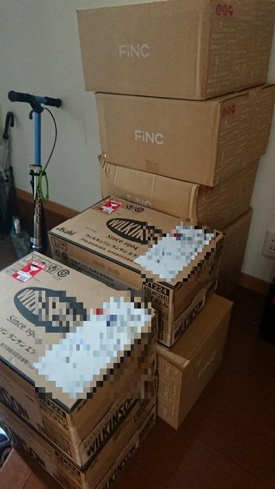 玄関に大量の箱