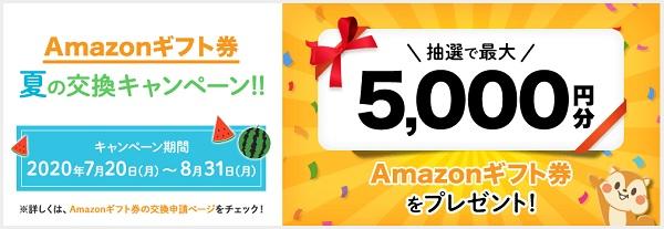 Amazonギフト券夏の交換キャンペーン