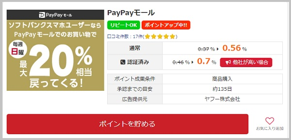 paypayモール広告詳細