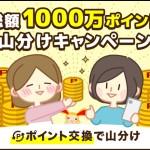 【ワラウ】総額100万円相当の山分けキャンペーン!ポイント交換だけで参加できる!