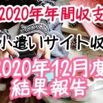 【2020年年間収支】お小遣いサイト収入2020年12月度結果報告
