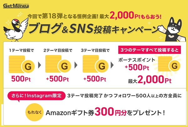 ブログSNS投稿キャンペーン