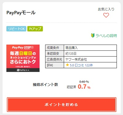 PayPayモール詳細