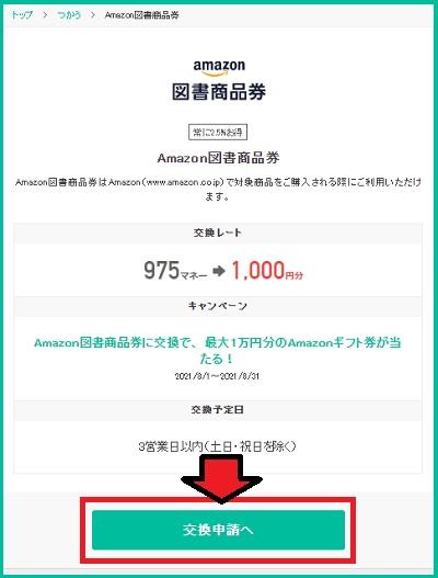 図書賞品券交換申請へ