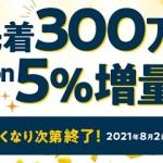【アメフリ】Amazonギフト券5%増量キャンペーン!先着300万円分予算がなくなり次第終了!